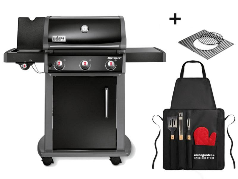 barbecue a gas spirit e 320 with grill apron. Black Bedroom Furniture Sets. Home Design Ideas
