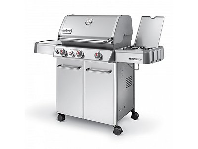 Gas barbecue weber genesis s 330 gbs with lateral grill - Barbecue weber genesis s330 inox ...