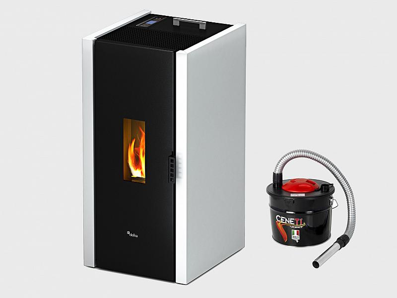 Cadel Free 6 5 Kw Pellet Stove Ideal For 156 Mq White Color