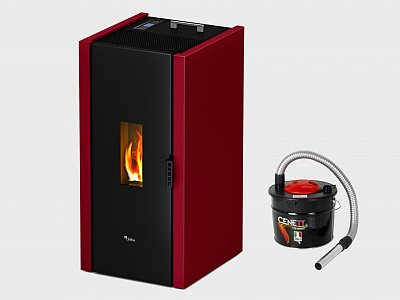 CADEL Cadel Free 6.5 kW pellet stove ideal for 156 mq white color