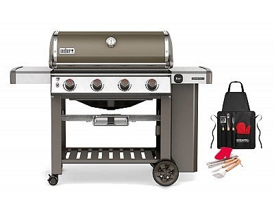 Weber Weber Genesis II gas barbecue E-410 GBS Black with grill apron